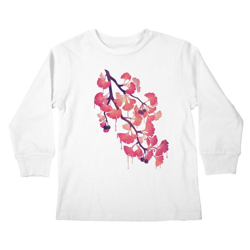 O, Ginkgo Kids Longsleeve T-Shirt by Littleclyde Illustration