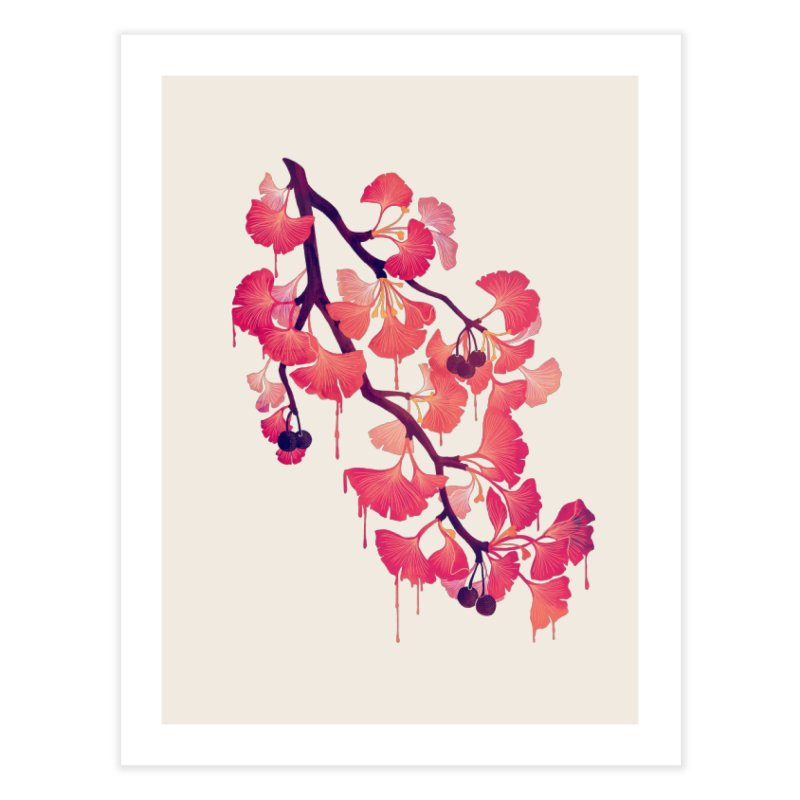 O, Ginkgo Home Fine Art Print by Littleclyde Illustration