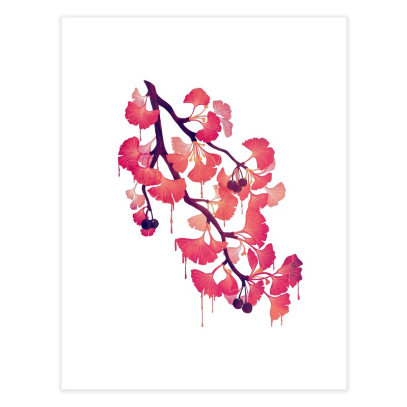 O, Gingko Home Fine Art Print by Littleclyde