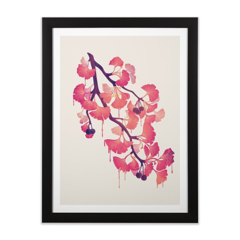 O, Ginkgo Home Framed Fine Art Print by Littleclyde Illustration