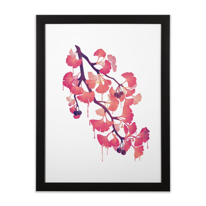 O, Gingko Home Framed Fine Art Print by Littleclyde