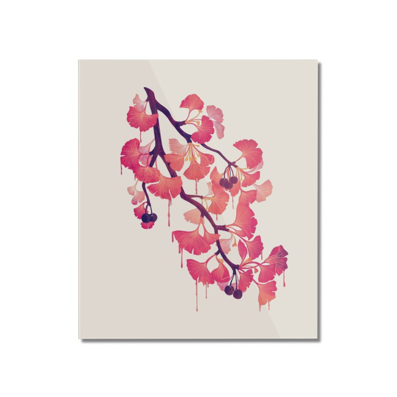 O, Ginkgo Home Mounted Acrylic Print by Littleclyde Illustration