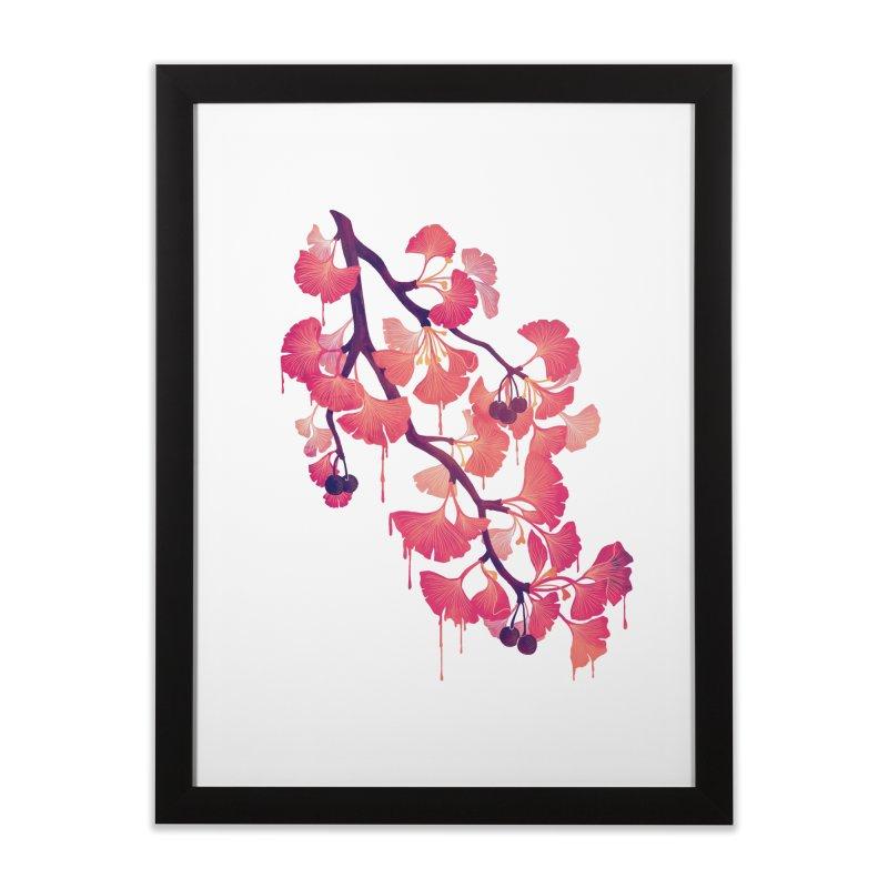 O, Gingko Home Framed Fine Art Print by Littleclyde