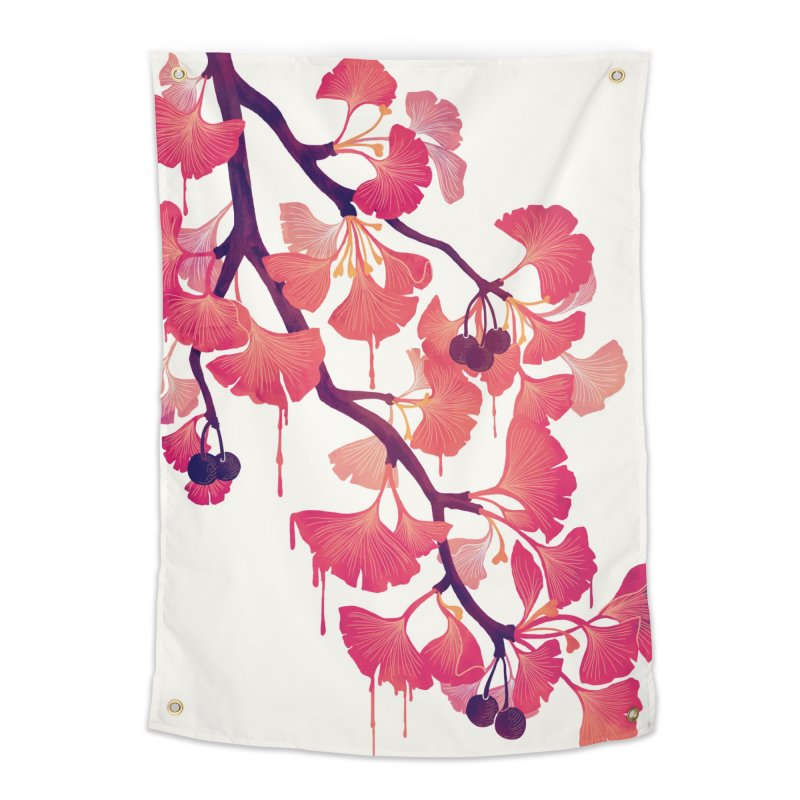 O, Ginkgo Home Tapestry by Littleclyde Illustration
