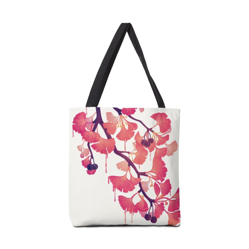 O, Ginkgo Accessories Bag by Littleclyde Illustration