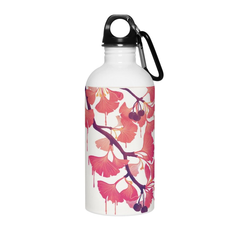 O, Ginkgo Accessories Water Bottle by Littleclyde Illustration