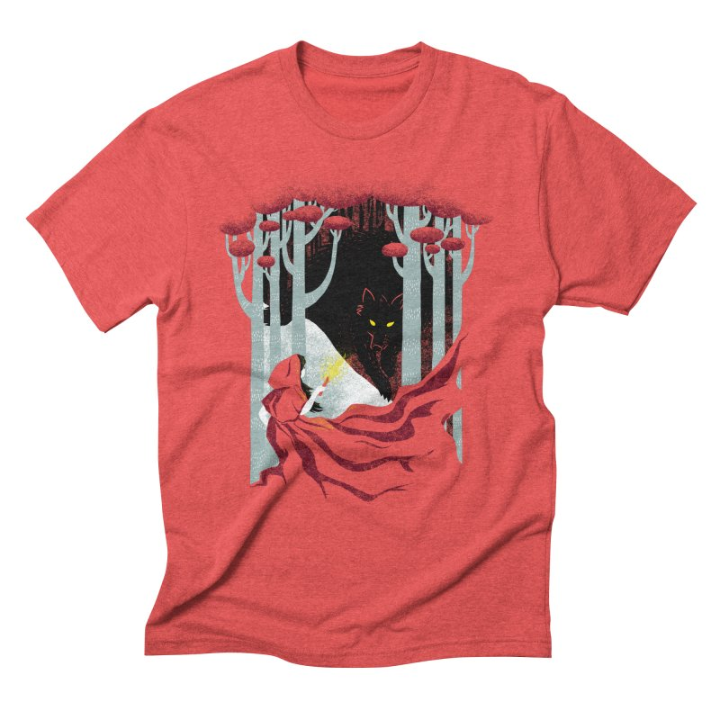 Into the Woods Men's Triblend T-shirt by Littleclyde Illustration