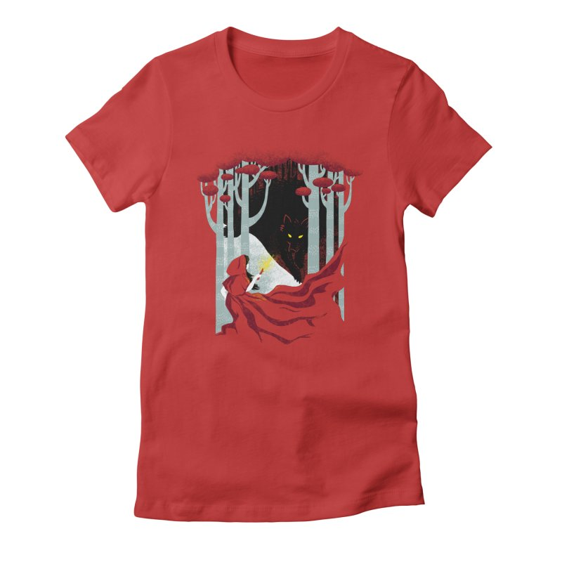 Into the Woods Women's Fitted T-Shirt by Littleclyde Illustration