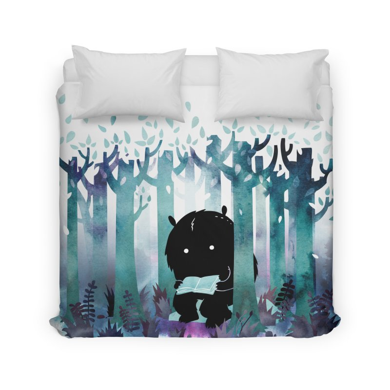A Quiet Spot Home Duvet by Littleclyde Illustration