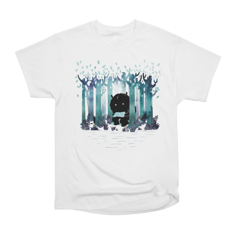 A Quiet Spot Men's Heavyweight T-Shirt by Littleclyde Illustration