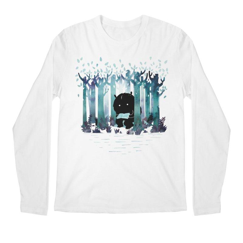 A Quiet Spot Men's Longsleeve T-Shirt by Littleclyde Illustration