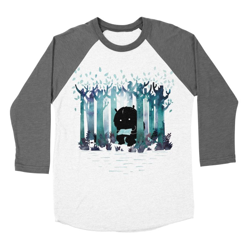 A Quiet Spot Men's Baseball Triblend T-Shirt by Littleclyde Illustration