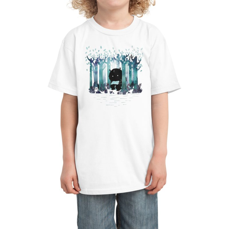A Quiet Spot Kids T-Shirt by Littleclyde Illustration
