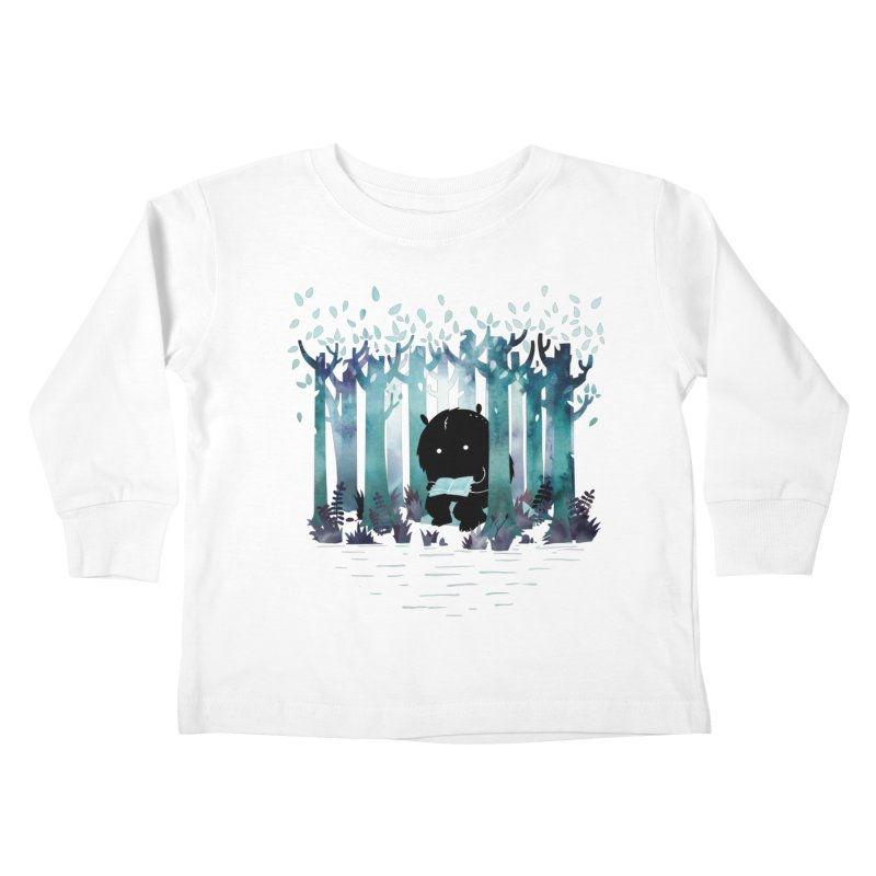 A Quiet Spot Kids Toddler Longsleeve T-Shirt by Littleclyde Illustration