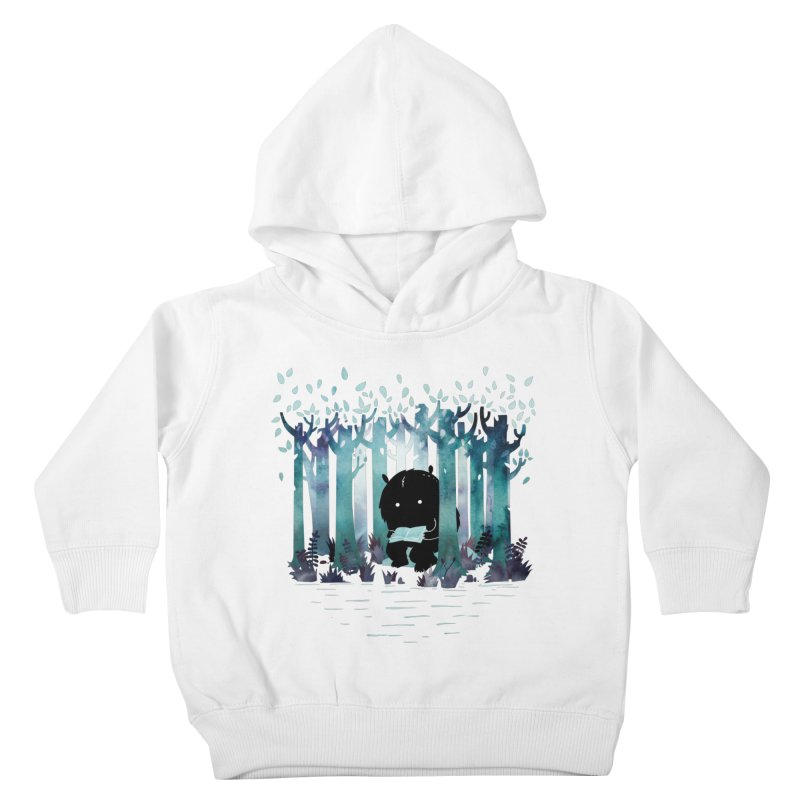 A Quiet Spot Kids Toddler Pullover Hoody by Littleclyde Illustration