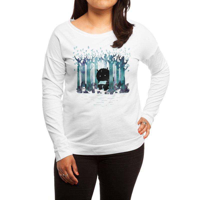 A Quiet Spot Women's Longsleeve T-Shirt by Littleclyde Illustration