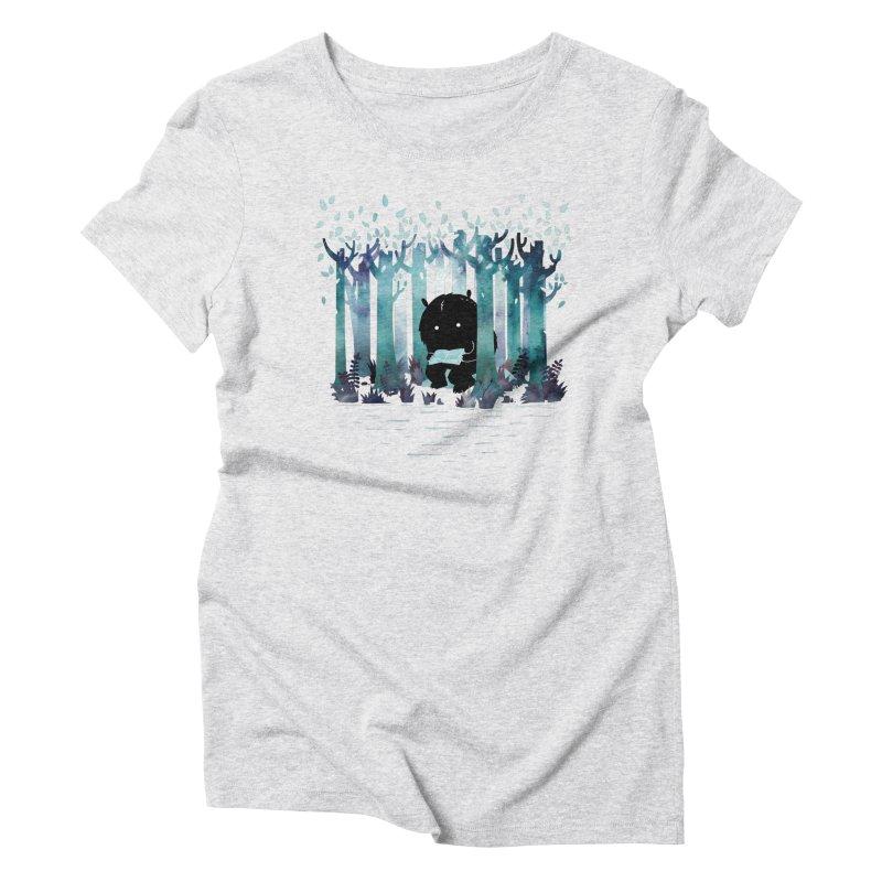 A Quiet Spot Women's Triblend T-shirt by Littleclyde Illustration