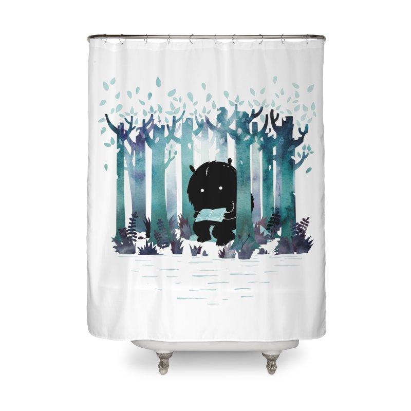 A Quiet Spot Home Shower Curtain by Littleclyde Illustration