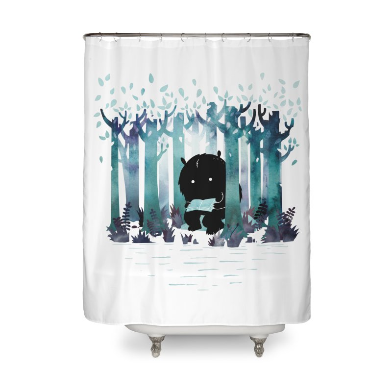 A Quiet Spot Home Shower Curtain by Littleclyde Illustration