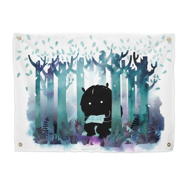 A Quiet Spot Home Tapestry by Littleclyde Illustration