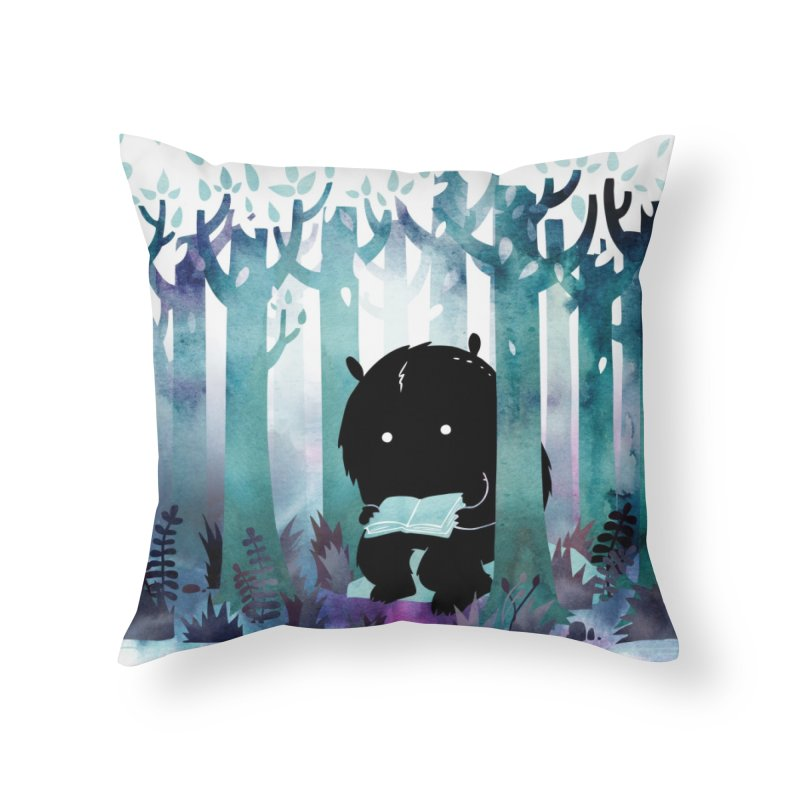 A Quiet Spot Home Throw Pillow by Littleclyde Illustration
