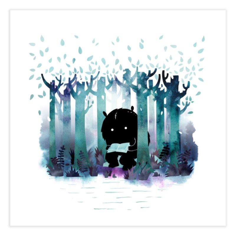A Quiet Spot Home Fine Art Print by Littleclyde Illustration