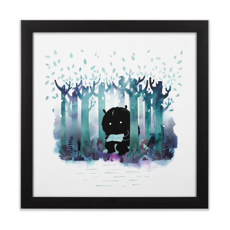 A Quiet Spot Home Framed Fine Art Print by Littleclyde Illustration