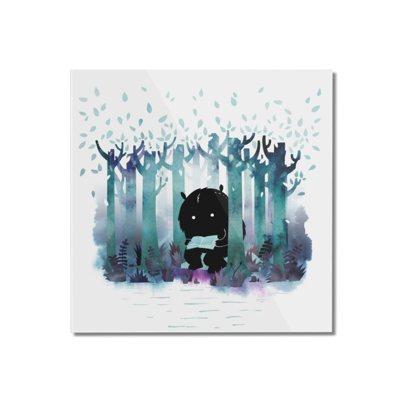 A Quiet Spot Home Mounted Acrylic Print by Littleclyde Illustration