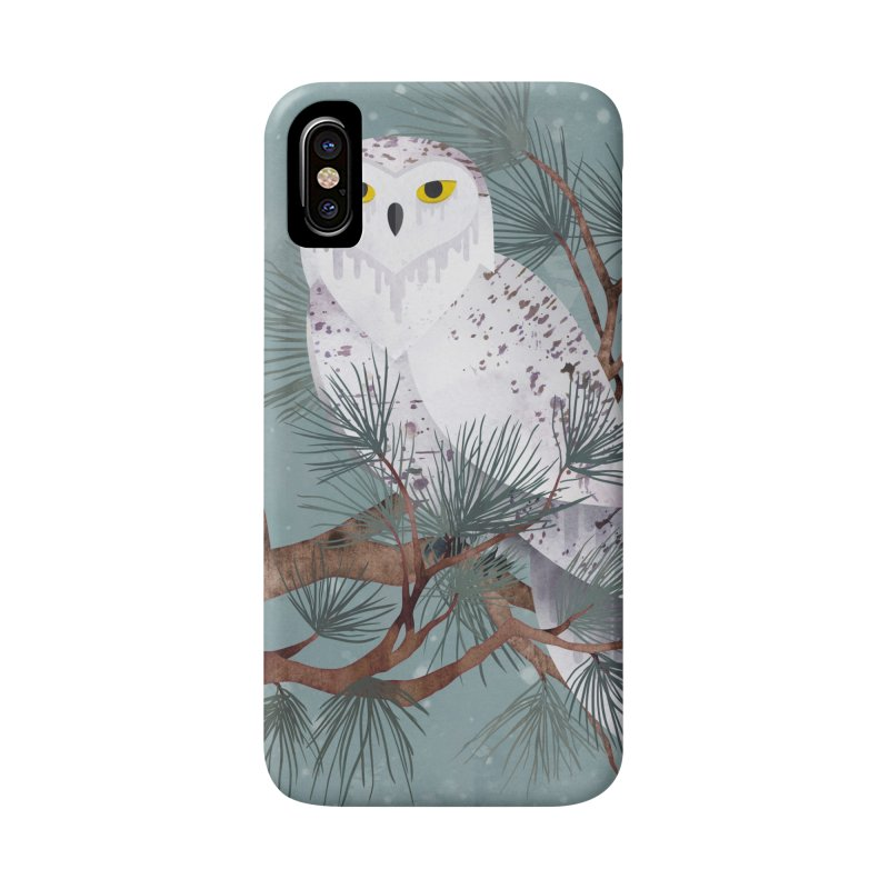 Snowy Accessories Phone Case by Littleclyde Illustration