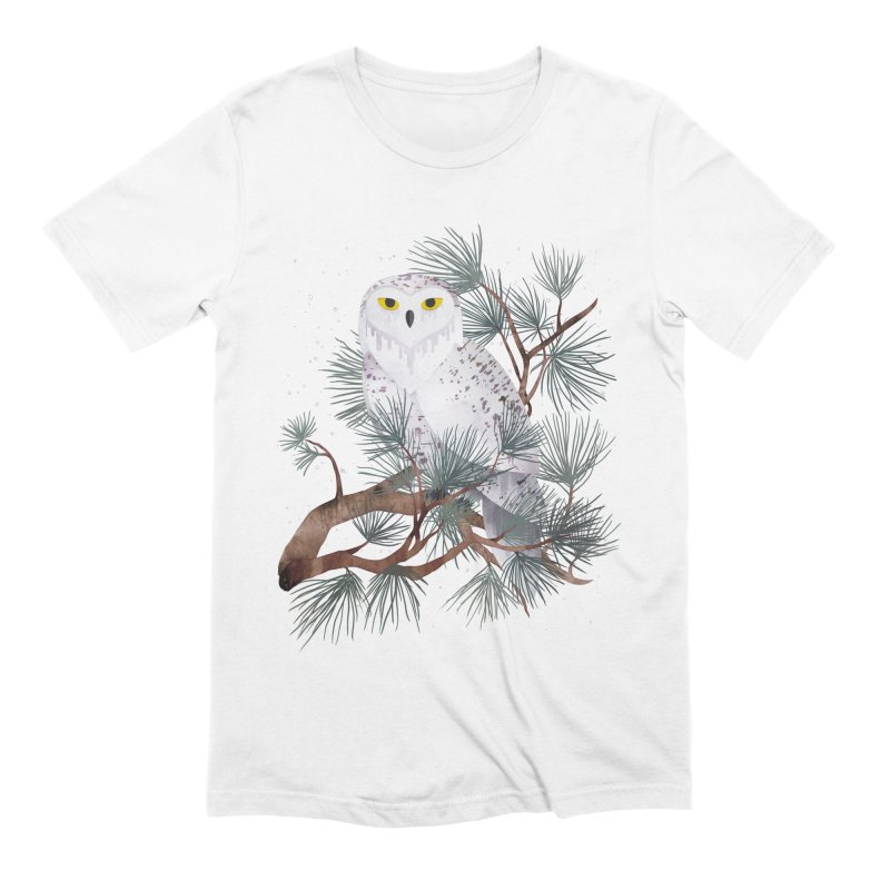 Snowy Men's Extra Soft T-Shirt by Littleclyde Illustration