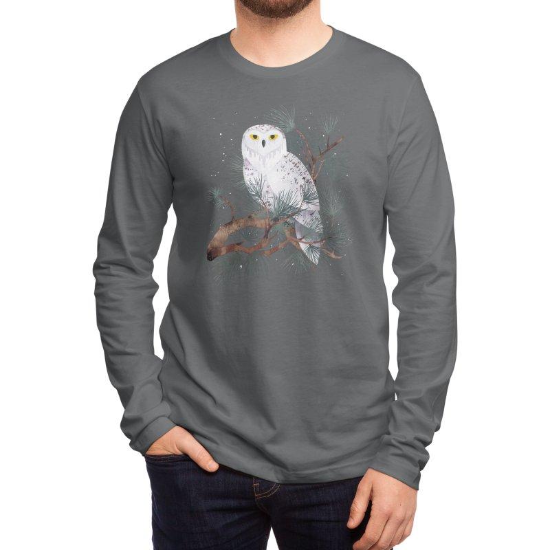 Snowy Men's Longsleeve T-Shirt by Littleclyde Illustration