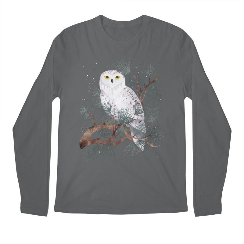Snowy Men's Regular Longsleeve T-Shirt by Littleclyde Illustration