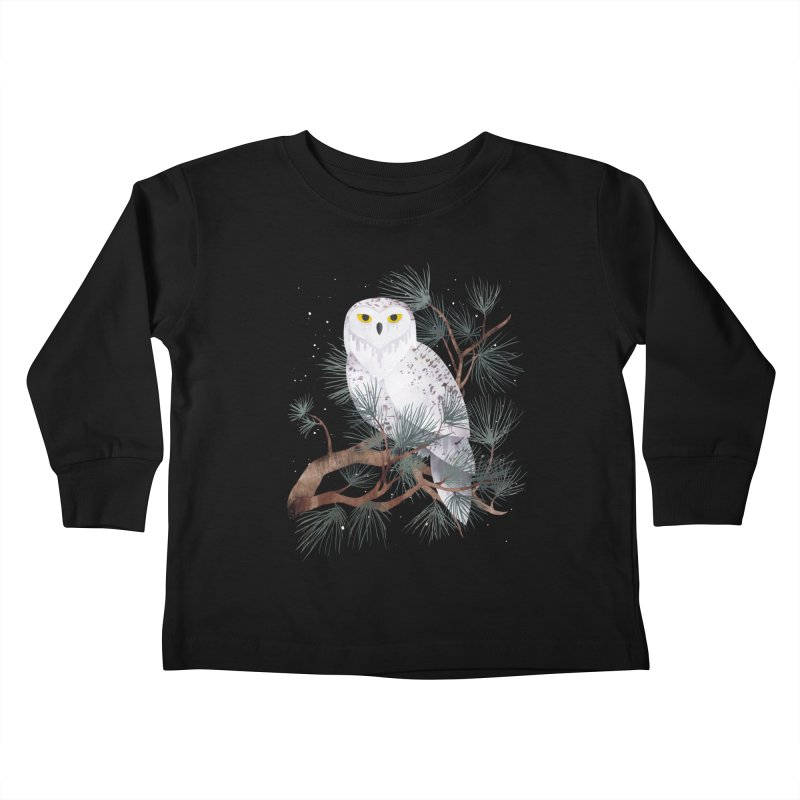 Snowy Kids Toddler Longsleeve T-Shirt by Littleclyde Illustration