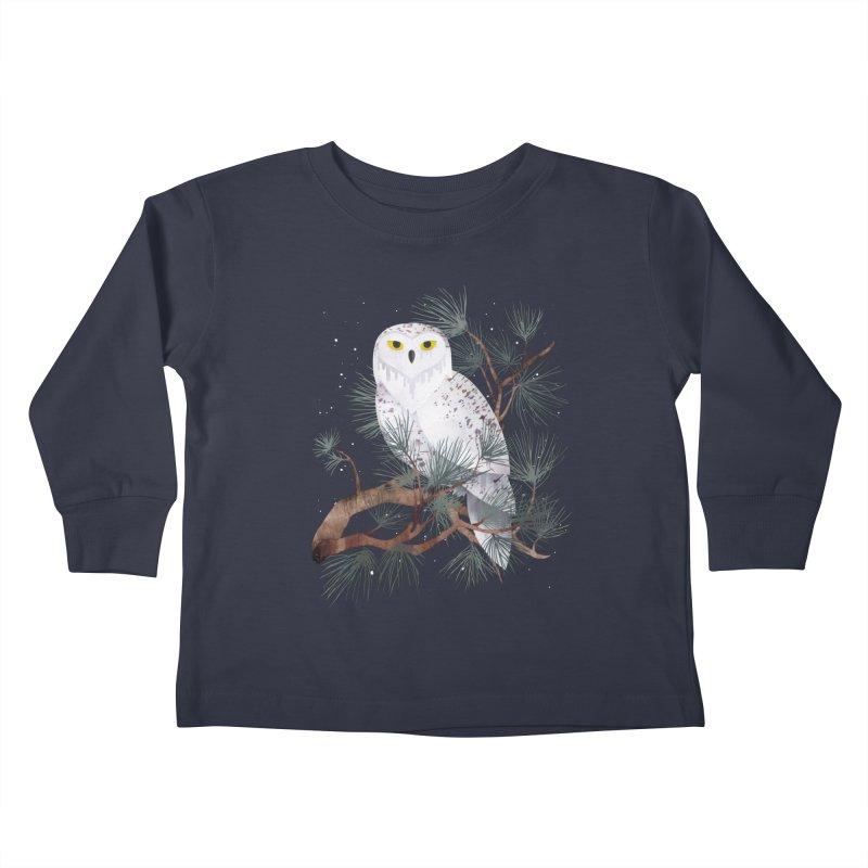 Snowy Kids Toddler Longsleeve T-Shirt by Littleclyde Illustration