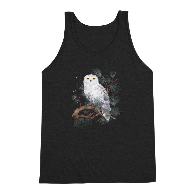 Snowy Men's Triblend Tank by Littleclyde Illustration