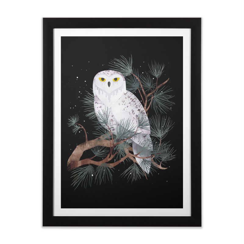 Snowy Home Framed Fine Art Print by Littleclyde