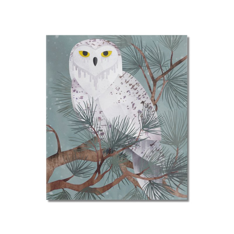 Snowy Home Mounted Acrylic Print by Littleclyde Illustration