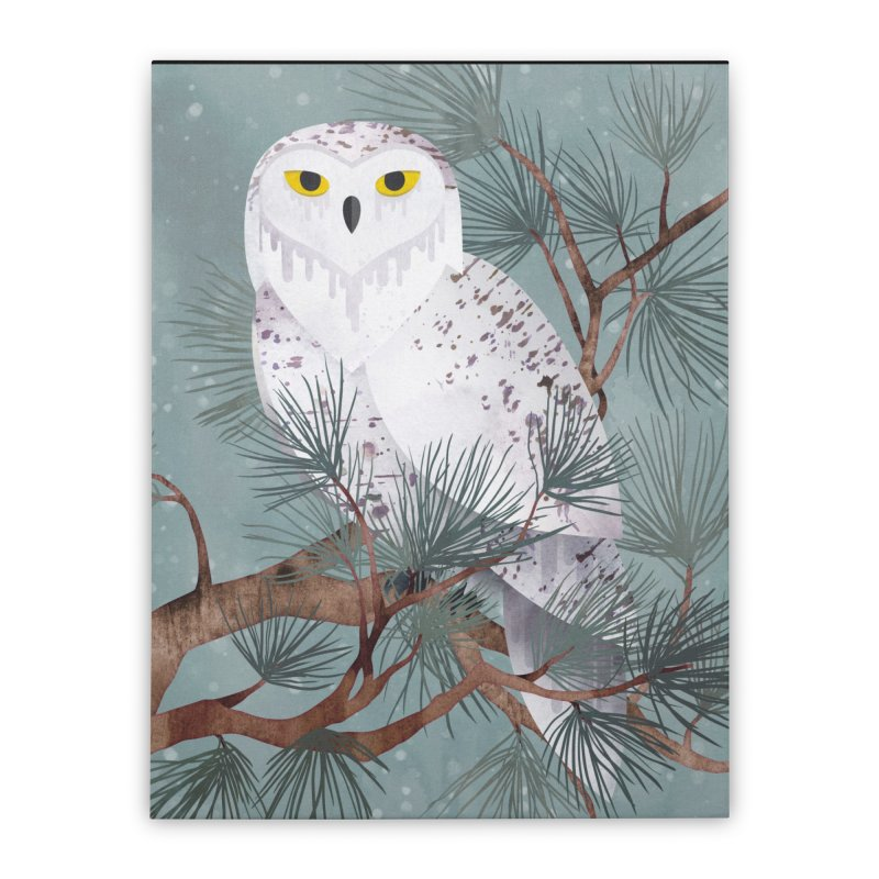 Snowy Home Stretched Canvas by Littleclyde Illustration