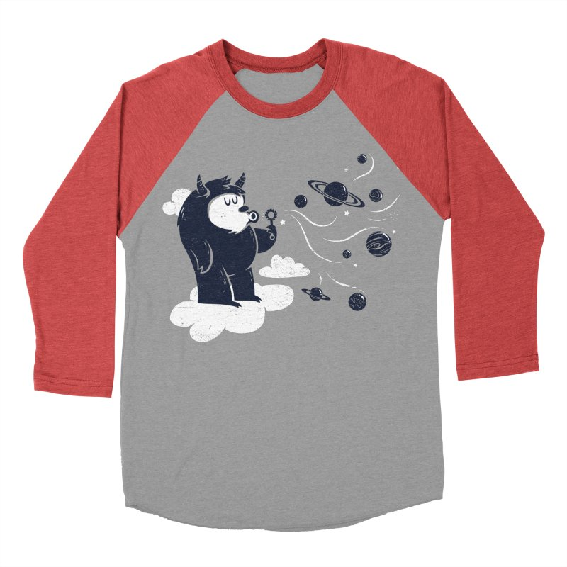 Universal Fun Men's Baseball Triblend T-Shirt by Littleclyde