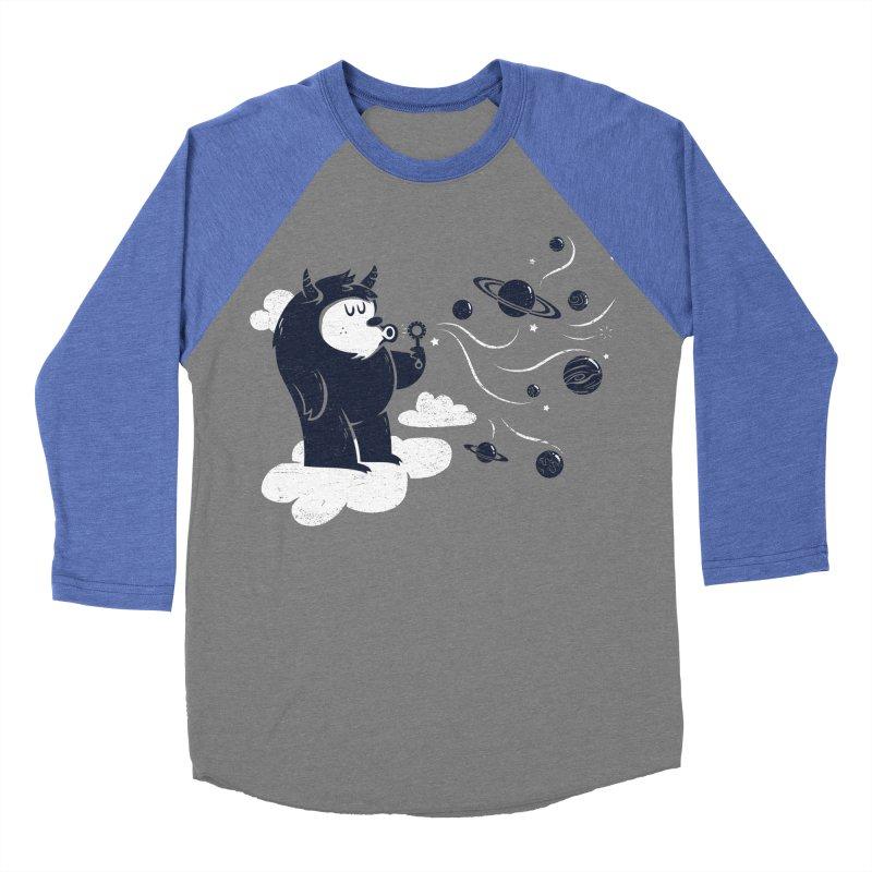 Universal Fun Men's Baseball Triblend T-Shirt by Littleclyde Illustration