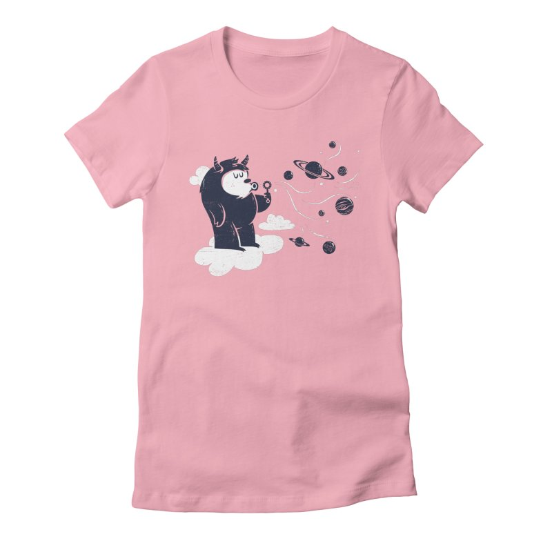 Universal Fun Women's Fitted T-Shirt by Littleclyde Illustration