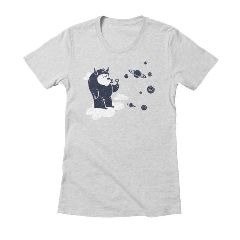Universal Fun Women's Fitted T-Shirt by Littleclyde