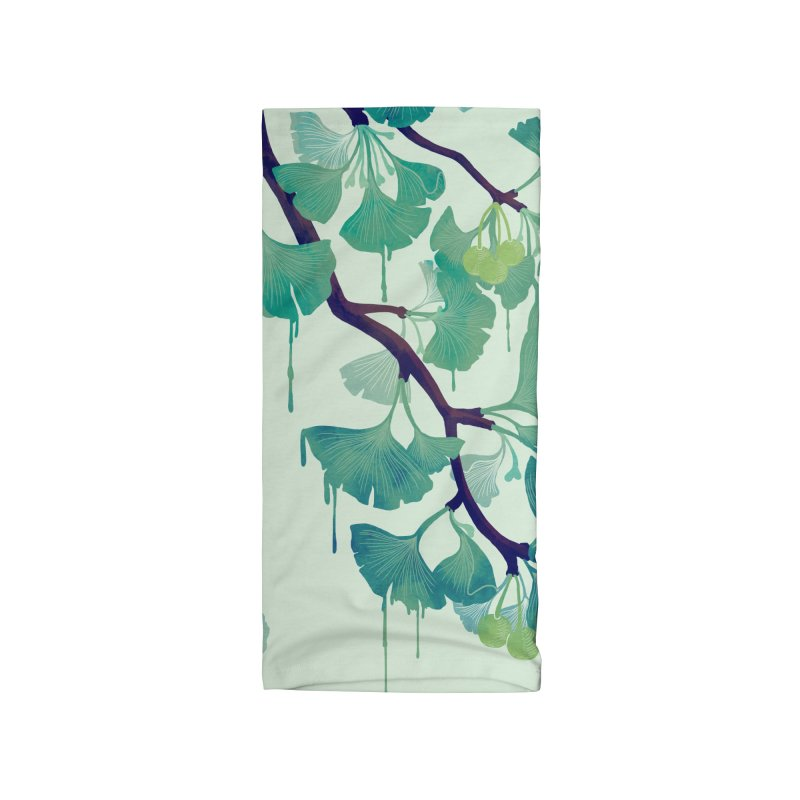 O Ginkgo (in Green) Accessories Neck Gaiter by Littleclyde Illustration