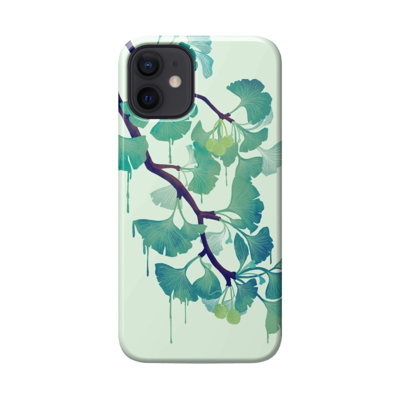 O Ginkgo (in Green) Accessories Phone Case by Littleclyde Illustration