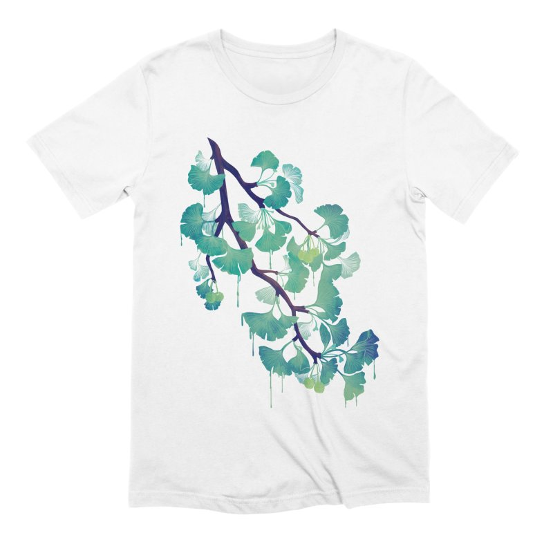 O Ginkgo (in Green) Men's Extra Soft T-Shirt by Littleclyde Illustration
