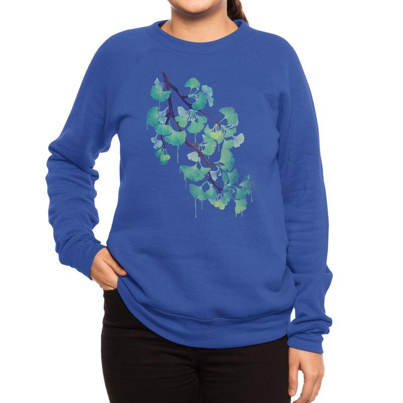 O Ginkgo (in Green) Women's Sweatshirt by Littleclyde Illustration