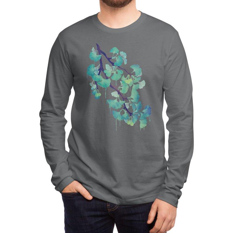 O Ginkgo (in Green) Men's Longsleeve T-Shirt by Littleclyde Illustration