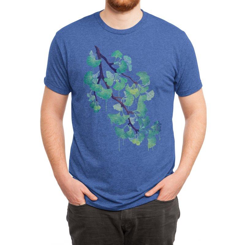 O Ginkgo (in Green) Men's T-Shirt by Littleclyde Illustration