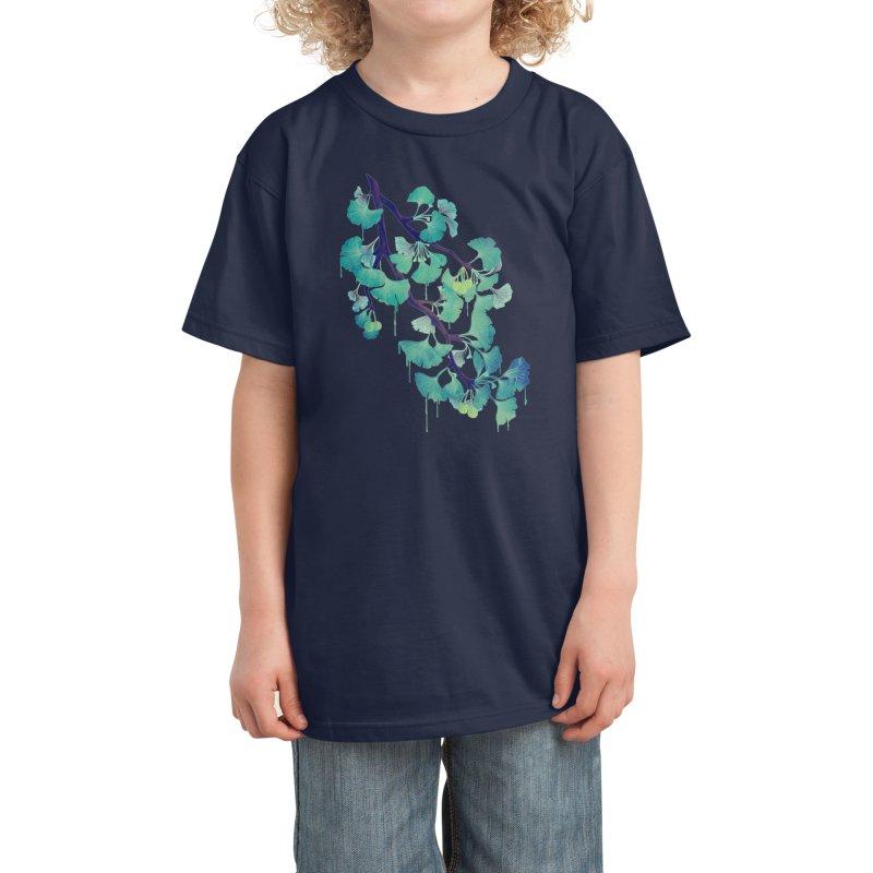 O Ginkgo (in Green) Kids T-Shirt by Littleclyde Illustration