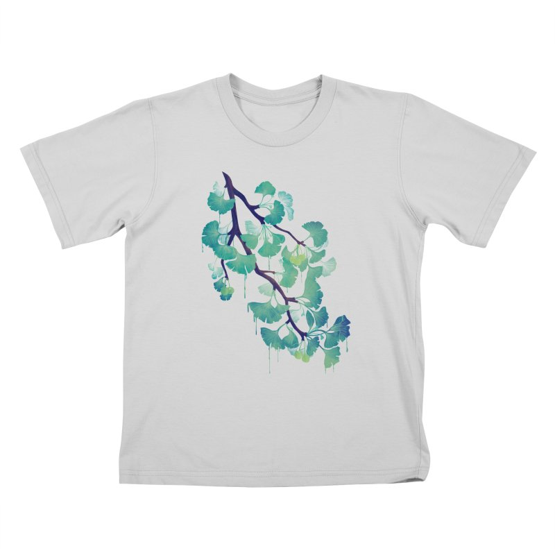 O Ginkgo (in Green) Kids T-Shirt by Littleclyde Illustration